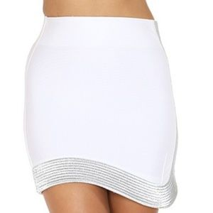 SILVER TRIMMED BODYCON SKIRT